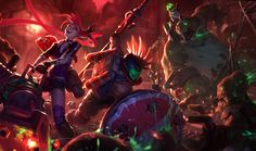 Slayer Pantheon & Jinx + Zombie Nunu Splash Art