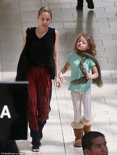 Big day out: Nicole Richie appears to be passing on her sartorial baton to her eight-year-...