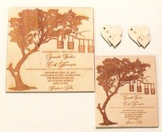 Hey, I found this really awesome Etsy listing at https://www.etsy.com/ca/listing/208667618/tree-of-love-wood-invitations
