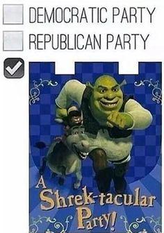 Republican democratic shrektacular shrek party