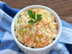 Surówka Coleslaw • Domowe Potrawy Kfc Coleslaw, Coleslaw Salad, Great Recipes, Vegan Recipes, Vegan Gains, B Food, Shrimp Salad, Vegan Pizza, Dips