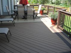 Love the deck flooring and railing