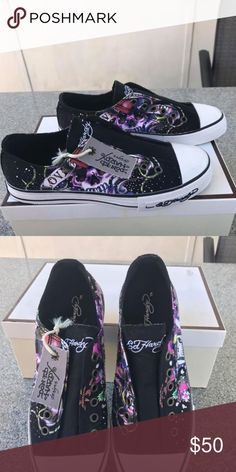 79ccaced2838 New Ed Hardy Women s Tennis Shoes. Size 7.5 New Ed Hardy Women s Tennis  Shoes.