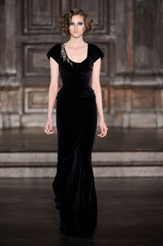 You're practically *required* to murder Professor Plum, with the candlestick, in the library when you wear a dress like this. #sorry #themstherules (L'Wren Scott Fall 2012)