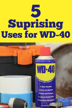 We had no idea you could use WD-40 to do THIS!