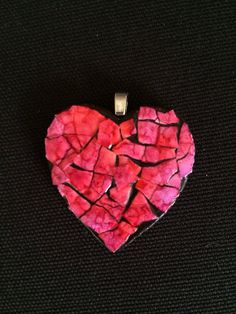 Bright and Happy Eggshell Heart Pendant with by NancyKlineMosaics, $16.00