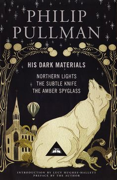 Phillip Pullman's trilogy, His Dark Materials. Cover design by Kate Baylay, published by Everyman's Library, 2011