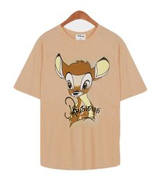 New Women Disney Bambie Dalmatian Character Graphic Cotton Cute T-shirt_4Colors #MIRINE