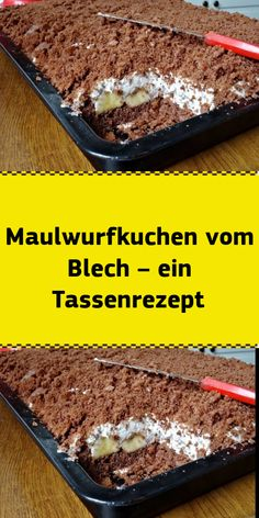 Maulwurfkuchen vom Blech – ein Tassenrezept - Appetizer Recipes Ingredients: For the dough: 2 cups o Quick Easy Desserts, Easy Cake Recipes, Fun Desserts, Cookie Recipes, Easy Meals, Easy Vanilla Cake Recipe, Chocolate Cake Recipe Easy, Chocolate Recipes, Cake Chocolate