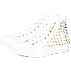 Studded Lace up Round Toe High Top Sneakers Trainers Skate Board Sports Running Training Shoes *** Check out the image by visiting the link. (This is an affiliate link) #Shoes