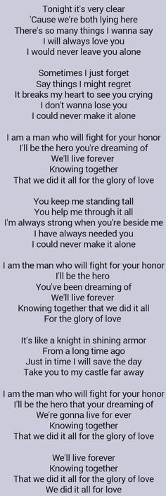 All for the best lyrics