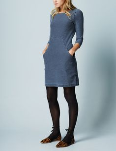 Seam Detail Tunic Dress WH974 Day Dresses at Boden