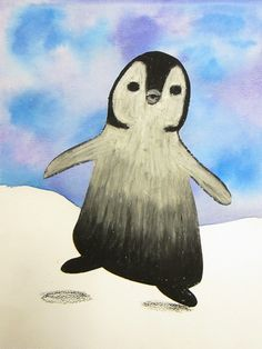 oil pastel penguins art lesson - Google Search