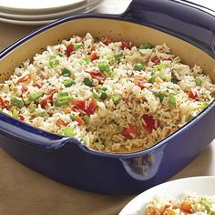 Mediterranean-Style Baked Rice #PamperedChef #NewSpringProducts