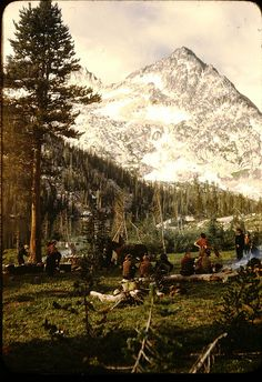 Toxaway - Sawtooth Mountains - Pack trip - Adventures in Kodachrome - 1947