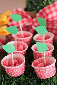 Picnic themed 1st birthday party via Kara's Party Ideas KarasPartyIdeas.com Cake, decor, cupcakes, printables, recipes, games, and more! #picnic #picnicparty (21)