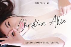 Christina Allie by Zulkhairiart Handwritten Script Font, Script Type, Business Brochure, Business Card Logo, Branding Materials, Handwriting Fonts, Freelance Graphic Design, Premium Fonts, Pencil Illustration