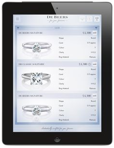 Short list your favourite three engagement rings, share designs with others and make your selection. #ForYouForever
