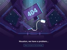 404 space page by Joseph Wells