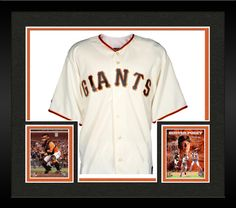 Framed Buster Posey San Francisco Giants Autographed Majestic Replica Jersey