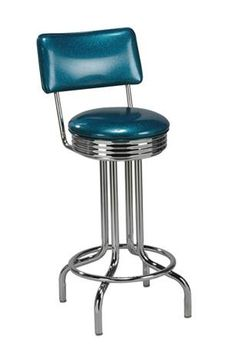 Swivel Chrome Ring Swivel Retro Bar Stool