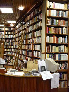 Beautiful Budapest - Inside a bookshop in Budapest.