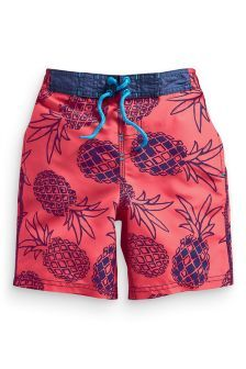 Coral Pineapple Swim Shorts (3-16yrs)