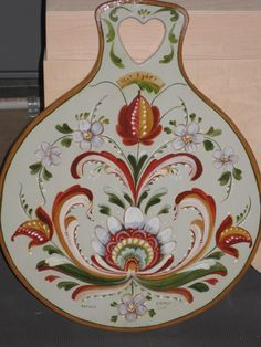 Vest Adger Rosemaling - Art and Ceramics One Stroke Painting, Types Of Painting, Tole Painting, Rosemaling Pattern, Norwegian House, Norwegian Rosemaling, Decoupage, Scandinavian Folk Art, Traditional Paintings