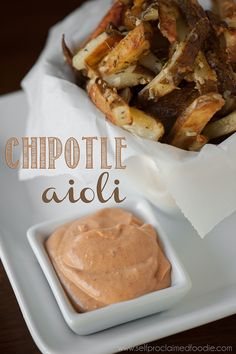 Chipotle Aioli is a homemade aioli sauce recipe with a spicy kick. Chipotle peppers, garlic and lemon come together in this flavorful homemade spicy dip. Homemade Aioli, Homemade Chipotle, Homemade Sauce, Chipotle Aioli Sauce Recipe, Garlic Aoli Recipe, Aoili Recipe, Chipotle Dip, Chipotle In Adobo Sauce, Spicy Aioli