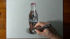 Drawing a Coca-Cola contour bottle Great Artist! http://www.cronenfamily.ws