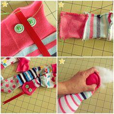 Inspiration for Moms, handmade toy from socks