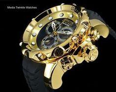 8d592a77f2c Invicta 52mm VENOM Sea Dragon Gen II SWISS MADE Chronograph Black H.P Gold  Watch Relógios Masculinos