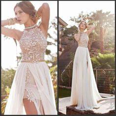 2015-vintage-beach-prom-dresses-high-neck