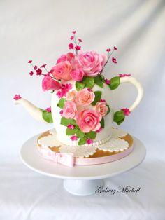 """""""The Tea Pot Cake"""" #PRETTY"""