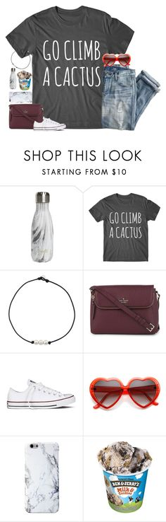 """mood"" by julesamber ❤ liked on Polyvore featuring S'well, J.Crew, Kate Spade and Converse"