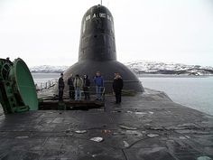 The 'Shark' the world LARGEST submarine & you guessed it, it is Russian! Russian Nuclear Submarine, Soviet Navy, Soviet Union, Ballistic Missile, Yellow Submarine, Navy Ships, Submarines, Aircraft Carrier, Hale Navy
