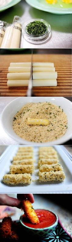 Panko bread crumbs Mozzarella Sticks | Top & Popular Pinterest Recipes