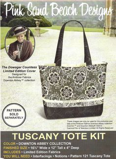 Downton Abbey Tuscany Tote Fabric Kit - Pink Sand Beach Designs
