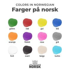 Colors in Norwegian