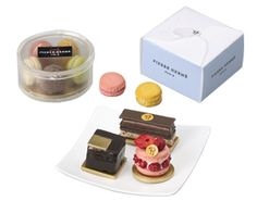 Megahouse Pierre Herme set - Megahouse items are very similar to Re-ment.  These finely detailed items are replicas of pastrys by French Pastry Chef Pierre Herme.