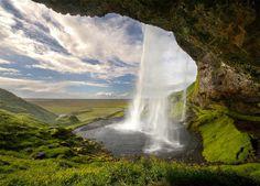 Seljalandsfoss Waterfalls, Iceland.
