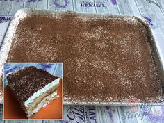 Nejlepší a nejjednodušší tiramisu | NejRecept.cz Tiramisu, Healthy Recipes, Healthy Food, Cheesecake, Ethnic Recipes, Desserts, Plum Jam, Whipped Cream, 3 Ingredients