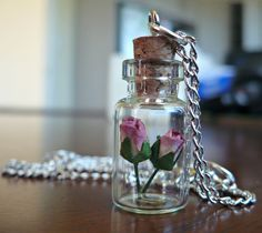 Miniature Rose Glass Vial Necklace. Available from: www.inspirations.mysupadupa.com