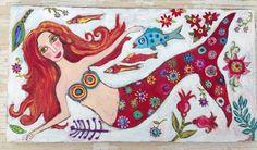 Mermaid Art Beach House Decor