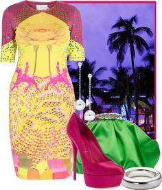 """""""Miami Neon"""" by ssquared on Polyvore"""
