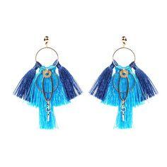 ALDARA BLUE MAGNOLIA TASSEL EARRINGS Handmade Silver, Handcrafted Jewelry, Tassel Earrings Outfit, Fashion Jewellery Online, Cotton Silk, Magnolia, Casual Wear, Tassels, How To Wear