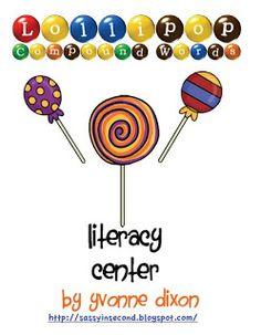 #Free Lollipop Compound Words Freebie