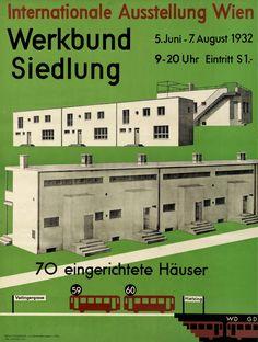 Plakat zur Werkbundausstellung in Wien 1932.
