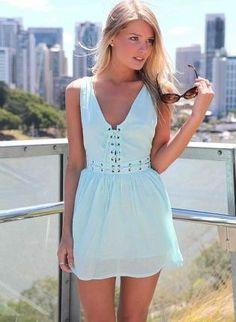 Mint Green Mini Dress - Mint Sleeveless Mini Dress #mint #green #dress www.loveitsomuch.com