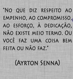 """""""with regard to the interest, commitment, effort, dedication, there is no middle ground. Or you do something well done or does not. Portuguese Quotes, Motivational Phrases, Powerful Words, Good Vibes, Something To Do, Reflection, Believe, Faith, Letters"""